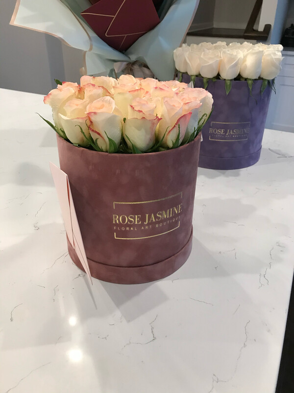 The Peach Velvet & 2 Dozen Fresh Roses