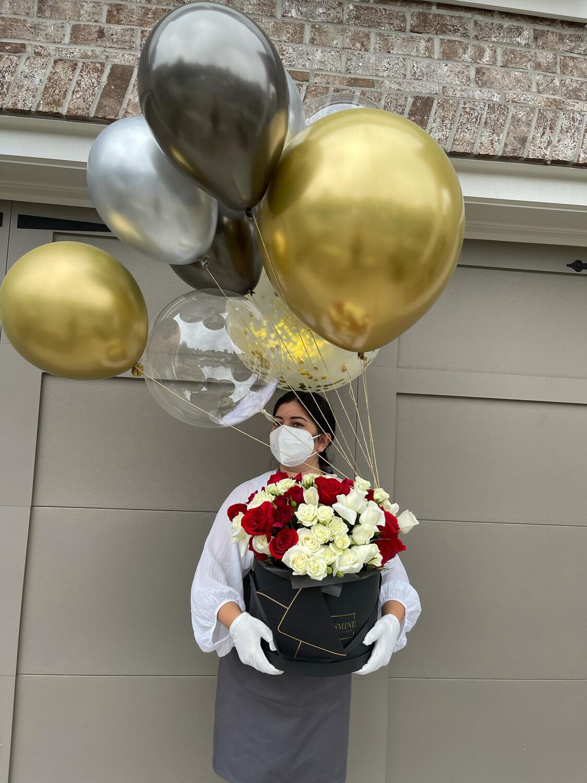 Rose Jasmine Balloons Set