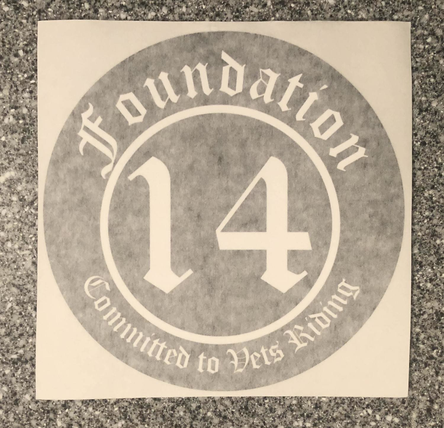 6 Inch Decal-Committed to Vets Riding-2 Options