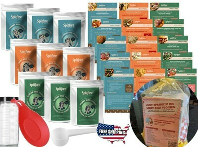 GOURMET KIT Seasonings & Recipes to cook family dinners for 18 nights: 9 Packets, Color-coded recipe card set, Gourmet Must Haves list, Full Gift Wrap & FREE Shipping ~$85 VALUE!