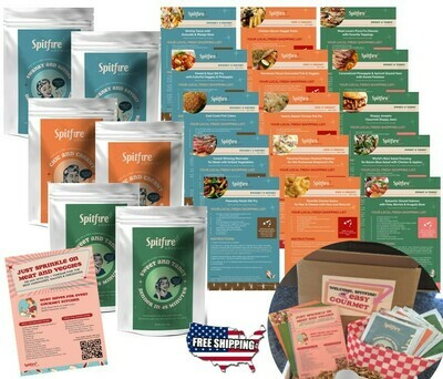 STARTER KIT Seasonings & Recipes to cook family dinners for 12 nights: 6 Packets, Color-coded recipe card set, Gourmet Must-Haves list & FREE Shipping ~$55 Value!