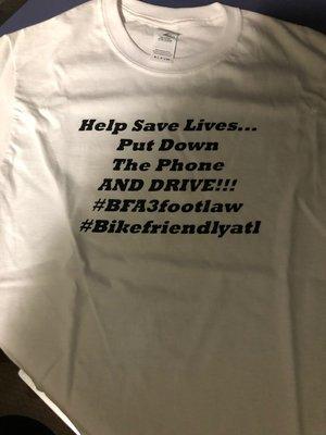 """BFA """"Help Save Lives"""" t-shirt"""