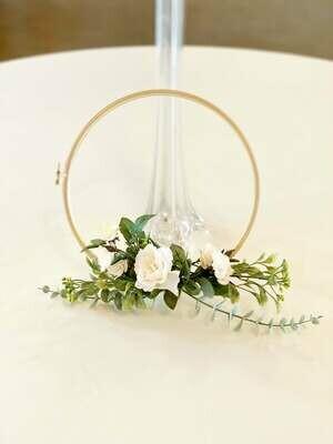 Bridesmaids Floral Hoops