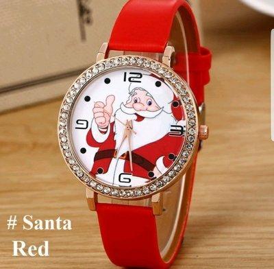 Santa Claus Leather Watch (Unisex) (WSOAB!)