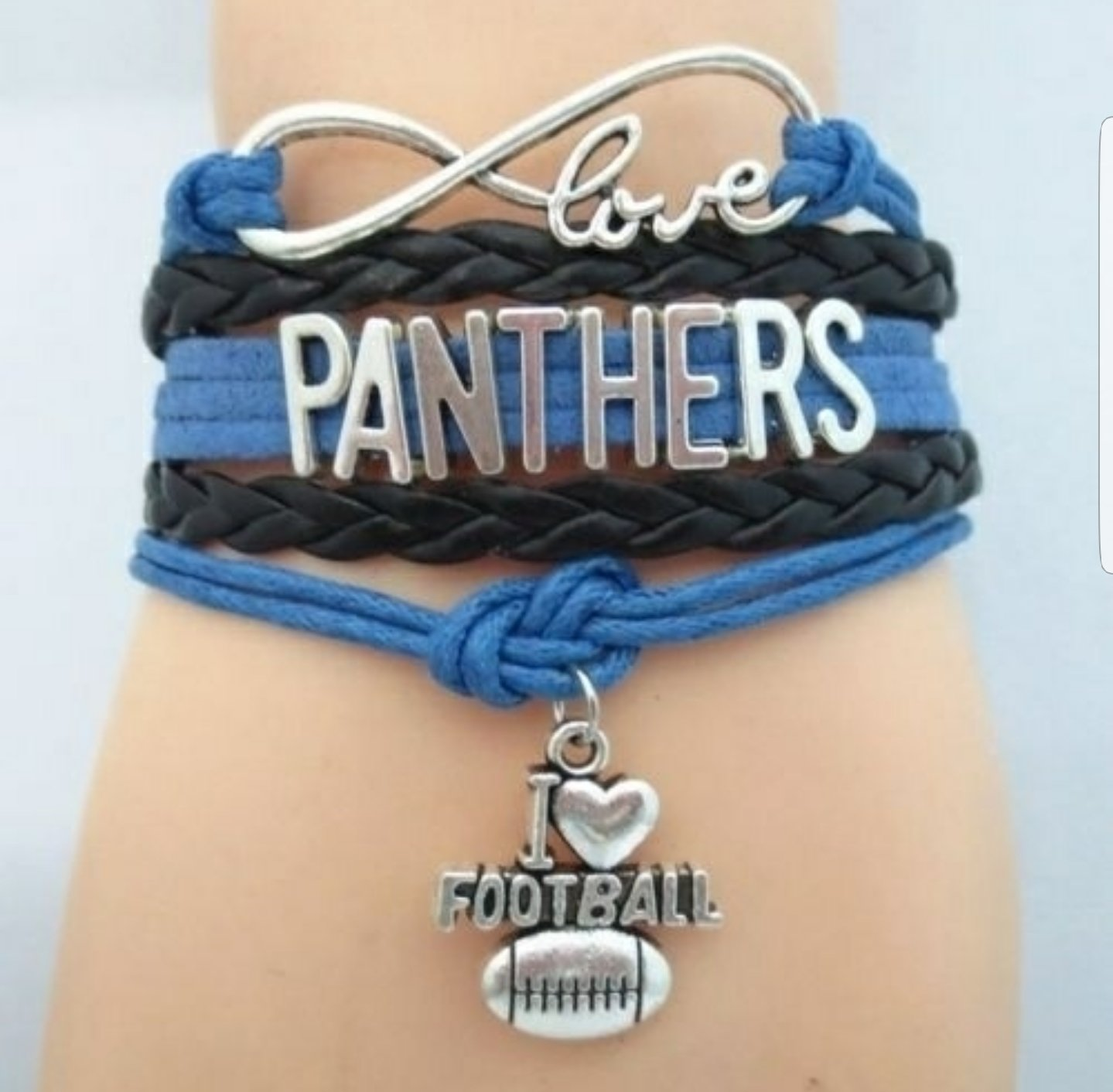 I love the Carolina Panthers Bracelet (WSOAB!)