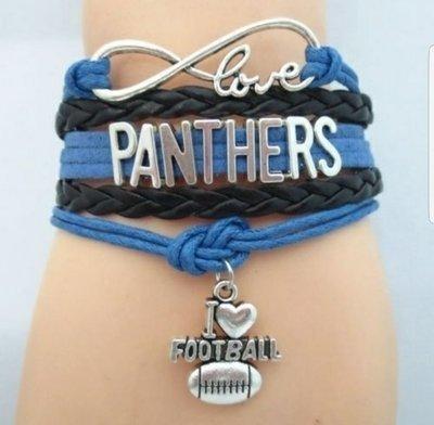 I love the Carolina Panthers Bracelet (WSOAB!)