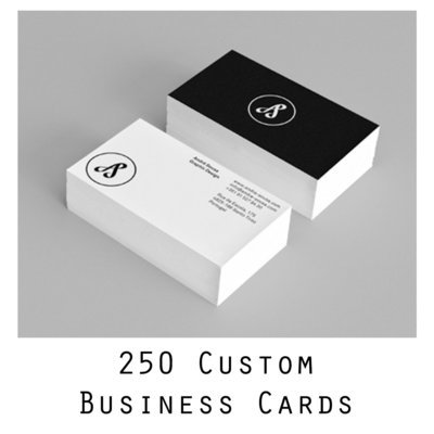 250 Custom Business Cards, designed specifically for you