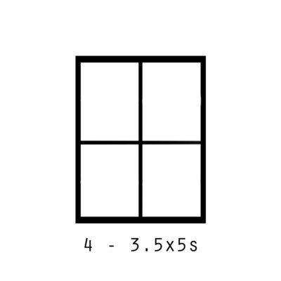 4 - 3.5x5s