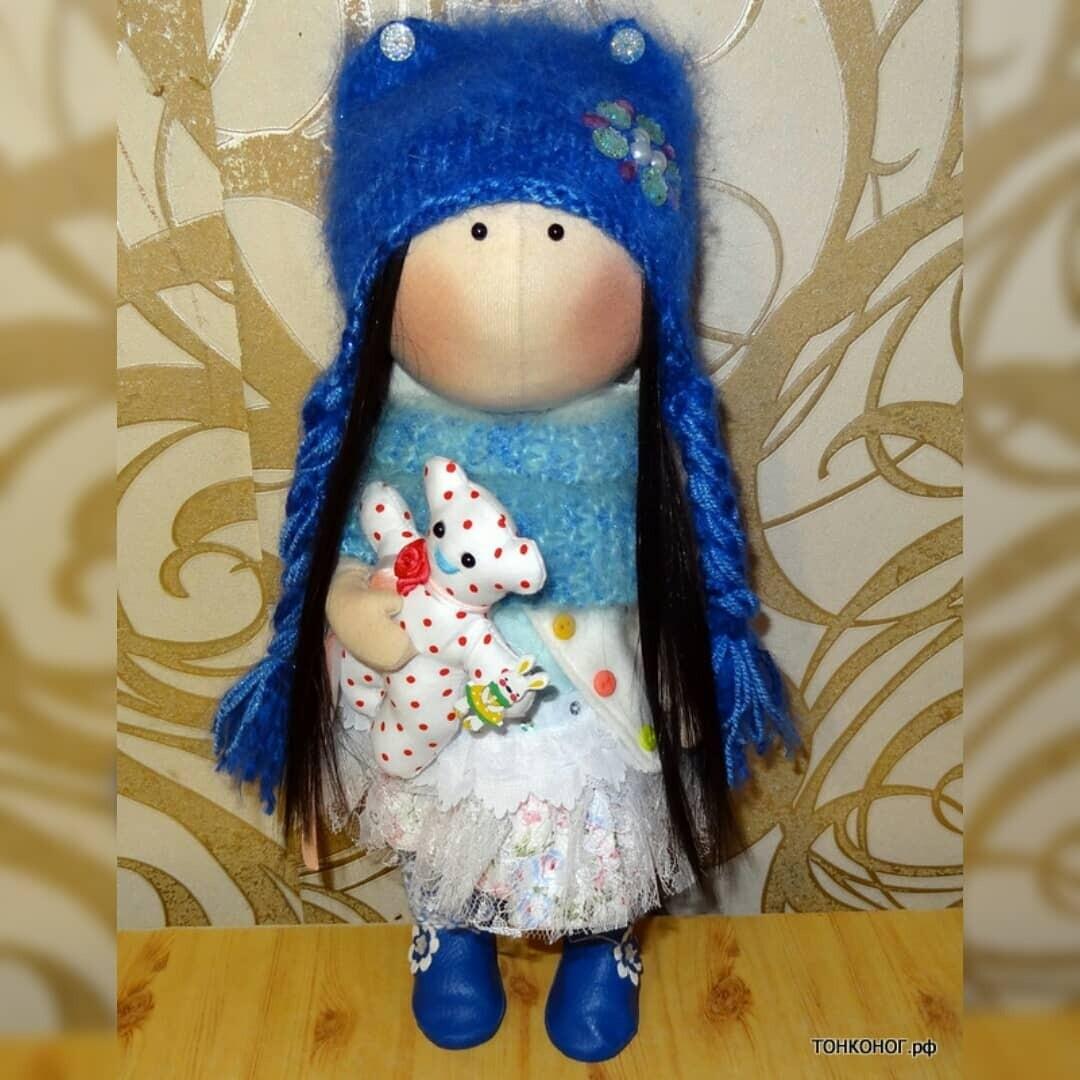 Текстильная кукла Снежанна