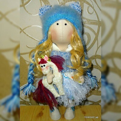 Текстильная кукла Вера