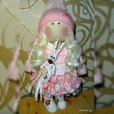 Текстильная кукла Милана