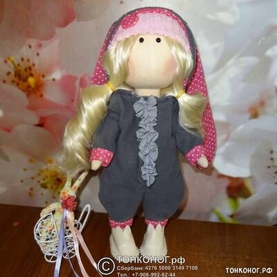 Текстильная кукла Мира