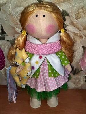 Текстильная кукла Анжелики