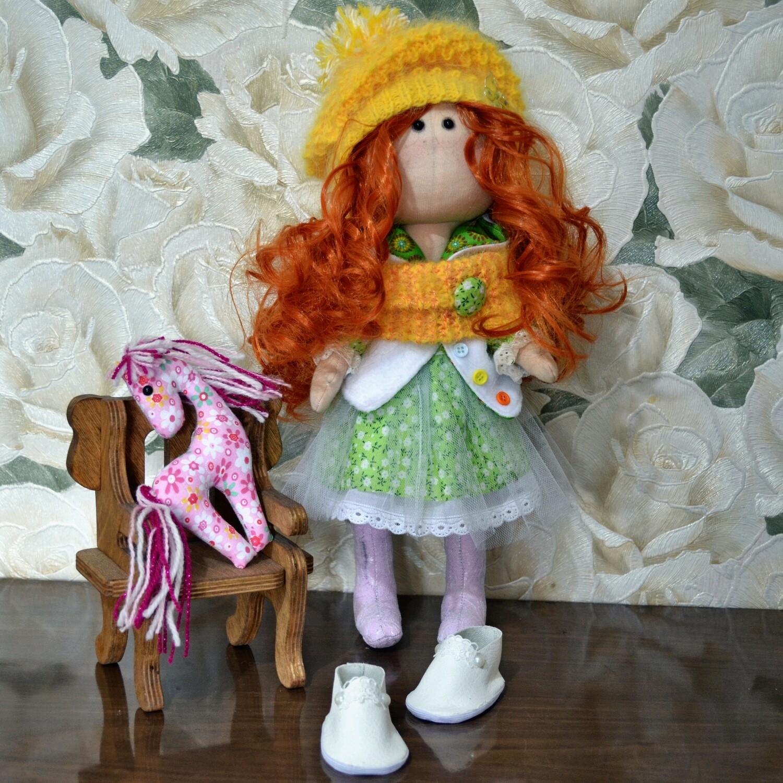 Текстильная кукла Марина