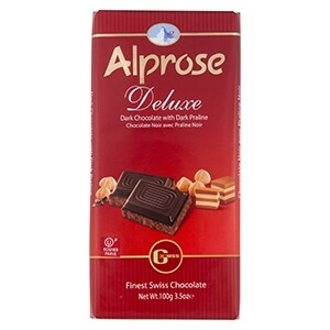Alprose Deluxe Dark Hazelnut Praline Chocolate