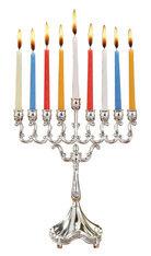 Silver plate Candle Menorah