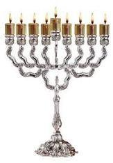 Silver plate Oil Menorah