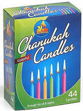 Chanuka Coloured candles