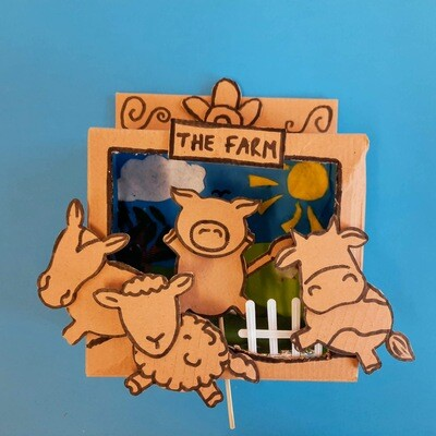 Farm Yard Stick Puppets and Theatre