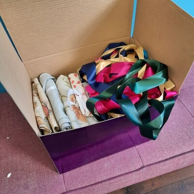 Fabric and Ribbons Box