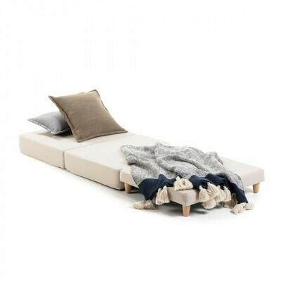 Puf cama Lizzie 70 x 60 (180) cm marrón