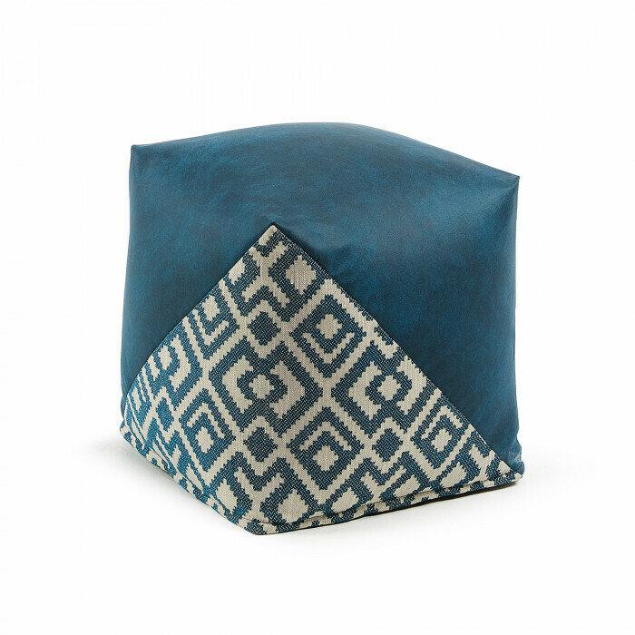 Puf Malawi 45 x 45 cm azul