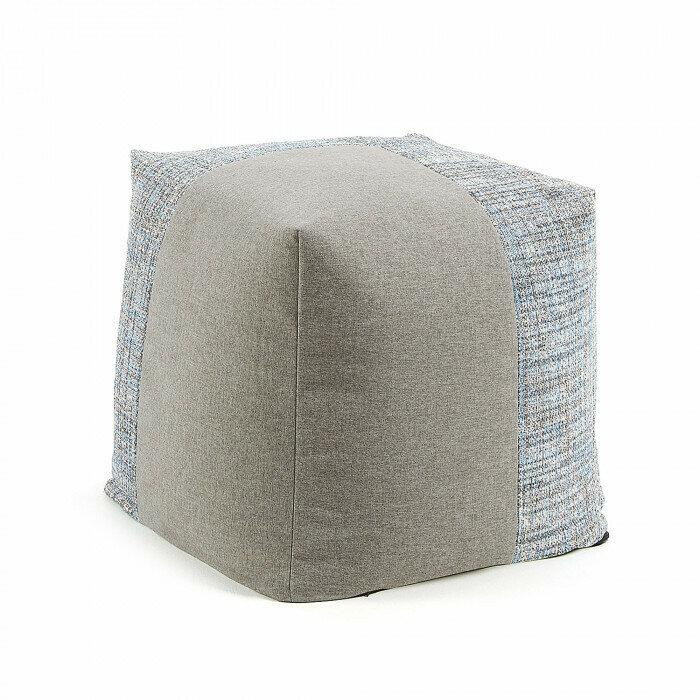 Puf cuadrado Boho Ø 45 cm azul