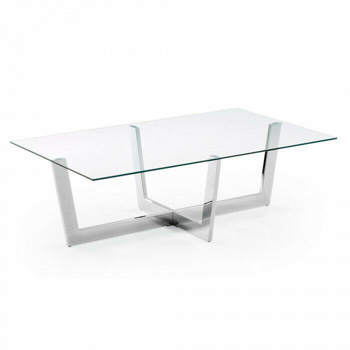 Mesa de centro Plam 120 x 70 cm cristal transparente