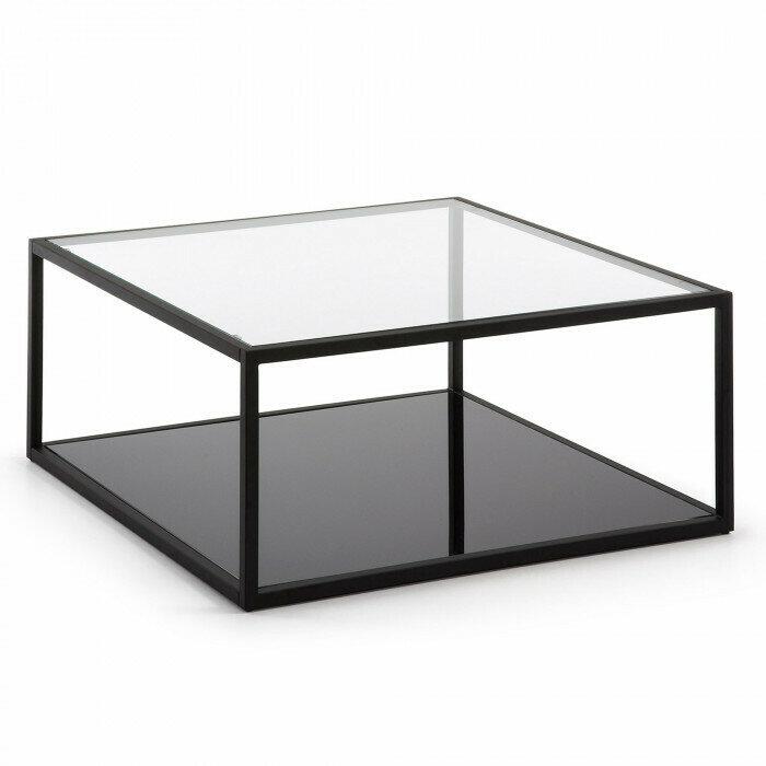 Mesa de centro cuadrada Blackhill 80 x 80 cm negro