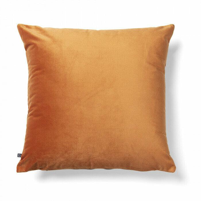 Funda cojín Lita 45 x 45 cm terciopelo naranja