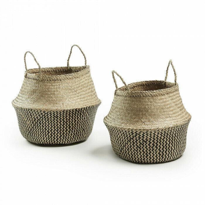 Set Thai de 2 cestas natural y negro