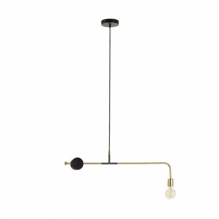 Lámpara de techo Wick 80 cm negro