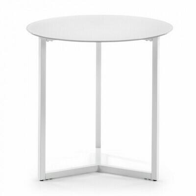 Mesa auxiliar Raeam Ø 50 cm blanco