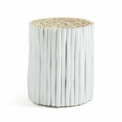 Mesa auxiliar Filip Ø 35 cm blanco