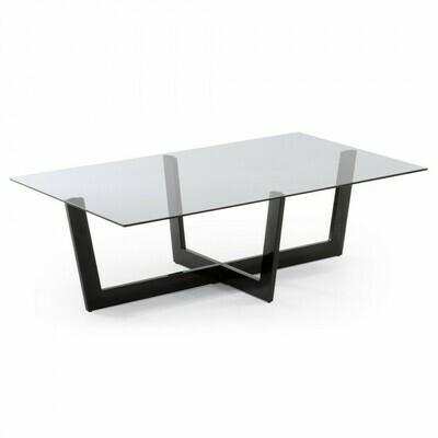 Mesa de centro Plam 120 x 70 cm cristal negro