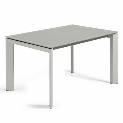 Mesa extensible Axis 140 (200) cm cristal gris patas gris