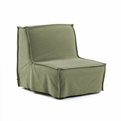 Sillón cama Lyanna 90 cm verde