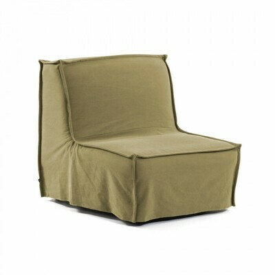 Sillón cama Lyanna 90 cm marrón