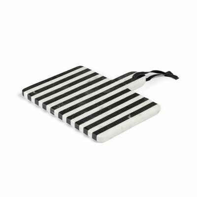 Tabla de mármol rectangular Bergman blanco y negro
