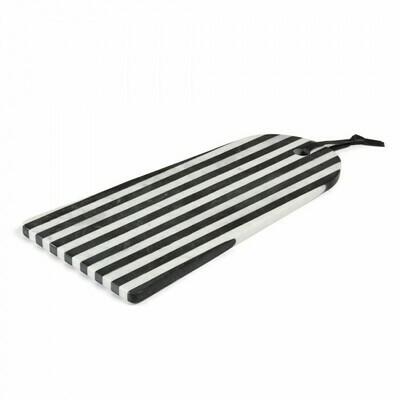 Tabla de mármol rectangular arco Bergman blanco negro