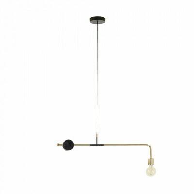 Lámpara de techo Wick 80 cm de acero y mármol negro