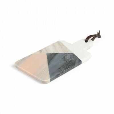 Tabla de mármol rectangular Bergman multicolor