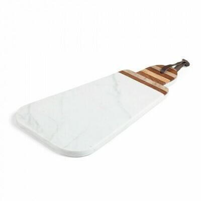 Tabla de mármol triangular oval Bryant blanco