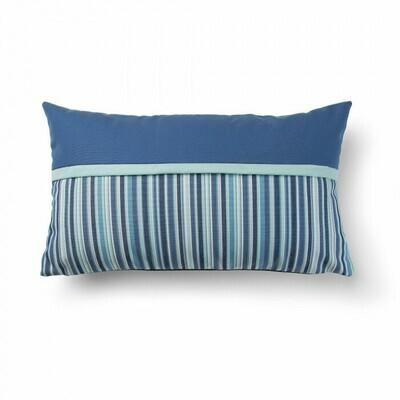 Funda cojín Blu azul y rayas
