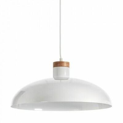Lámpara de techo Gotram de acero con acabado blanco