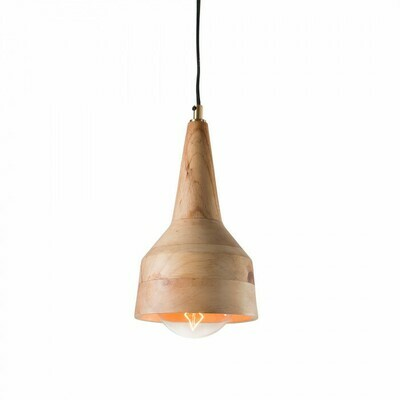 Lámpara de techo Allie de madera de mango Ø 18,5 cm