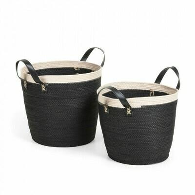 Set Kysna de 2 cestas negro y beige