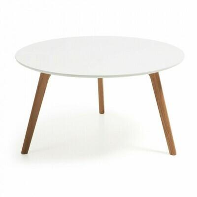 Mesa de centro Kirb Ø 90 cm blanco