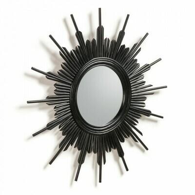 Espejo Marelli Ø 70 cm negro