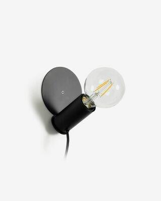 Lámpara de sobremesa o aplique Danitz de acero con acabado negro
